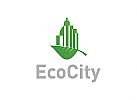 Ökologie Logo, Recycling, Umwelt Logo Immobilien Logo,