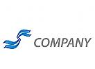 Zeichen, Zeichnung, Wellen, blau, Wellness, Spa, Logo