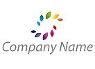 Zwei Spirale, Zeichen, Zeichnung, Symbol, Blätter, Spirale, farbig, Logo