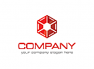 Würfel Logo, Industrie Logo, Reparatur Logo, Handwerker Logo