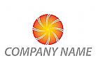 Kreis, Sonne, Energie Logo