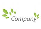 Viele Blätter in grün Logo
