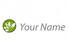 Ökologie, Kugel mit Blätter, Natur Logo