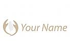 Zwei Hände und Feder Logo
