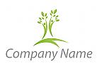 Zwei Menschen, Bäume Logo