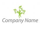 Pflanzen, Bäume, Menschen Logo