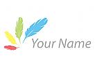 Vier Federn, farbig Logo