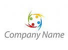 Ökologie, Zeichen, Zeichnung, Vier Personen, Menschen, farbig Logo