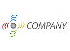 Wellen, Linien, Kugel, farbig, Sound, Musik, Logo