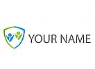 Zwei Personen, Wappen, Personen, Menschen, Logo