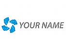 Viele Rechtecken in blau, Musik Logo