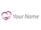 Modernes Herz, farbig Logo