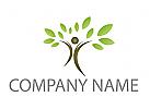 Pflanze, Baum, Mensch Logo