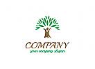 Baum Logo, Blätter, Blatt, grün, Gruppe