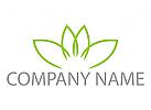 Vier Blätter, Blume Logo