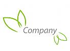 Vier Blätter, Natur Logo
