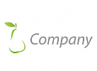 Birne in grün Logo