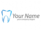 Zahn, abstrakt Logo