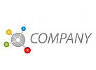 Viele Kreise, farbig, Netzwerk Logo