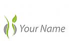 Person, Frau, Frauenarzt Logo