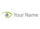 Optiker, Auge, Augenarzt Logo