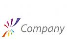 Zwei Spiralen, farbig Logo