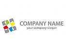 Rechtecke, Kacheln, farbig Logo