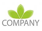 Pflanze, Blätter, Blume Logo
