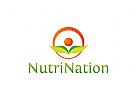 Bio-Produkt Logo, natur logo, blatt logo, Landwirtschaft logo, Ökologie