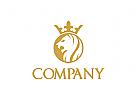 Löwe Logo, König Logo, Krone Logo