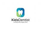 Zähne Logo, Zahnarzt, Arzt, Dental, Dentist Kinderzahnartz Logo