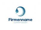 Reinigung, Pflege, Wasser, Wassertropfen Logo