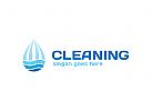 Reinigung Logo, Hygiene, Pflege, Wasser, Tropfen Logo