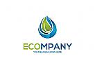 Ökologische Reinigung, Hygiene, Tropfen, Wasser Logo
