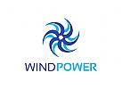 Wind, Energie, Propeller Logo