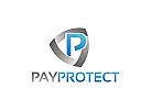 Geld Logo, Zahlung, Schutz, Schild, Banken Logo