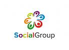Menschen Logo, Gruppe, Beratung Logo