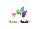 Blume Logo, Massage, Spa Salon, Kosmetik, Schönheit, Duft