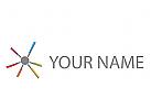 Zeichen, Skizze, Kreis, Linien, Netzwerk, Logo
