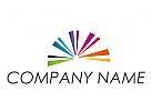 Zeichen, Skizze, Linien, farbig, Regenbogen, Logo