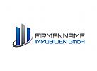 Immobilien Logo, Grundstücke , Architektur, Bau