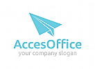 Büro Logo, Vorräte Logo, Papier Logo, Druck Logo