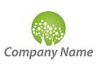 Kreis, Kugel und Bäume Logo