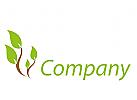 Pflanze, Baum, farbig Logo