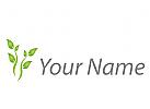 Pflanze, Baum in grün Logo