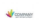 Menschen Logo, Gruppe Logo
