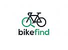Fahrrad Sucher Logo, Sicherheit, Lokalisierung