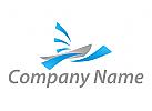 Segelboot und Wellen Logo