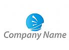 Segelboot und Kreis Logo