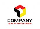 Würfel Logo, Box, Medien, Transport, Technologie Logo
